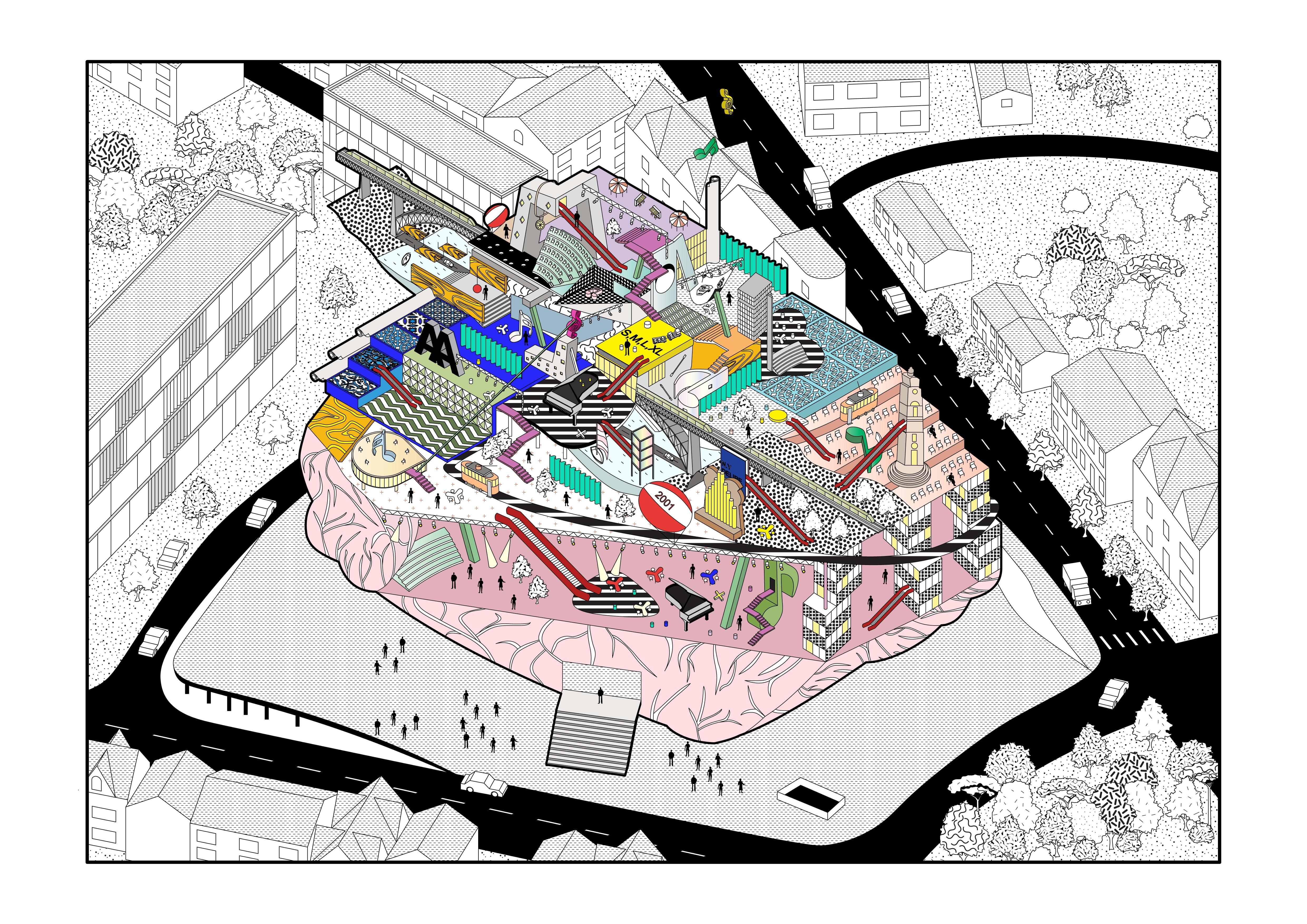 Casa da Música - a fragmented journey in Rem's brain