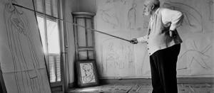 FRANCE. Nice. August 1949. Henri MATISSE in his studio.