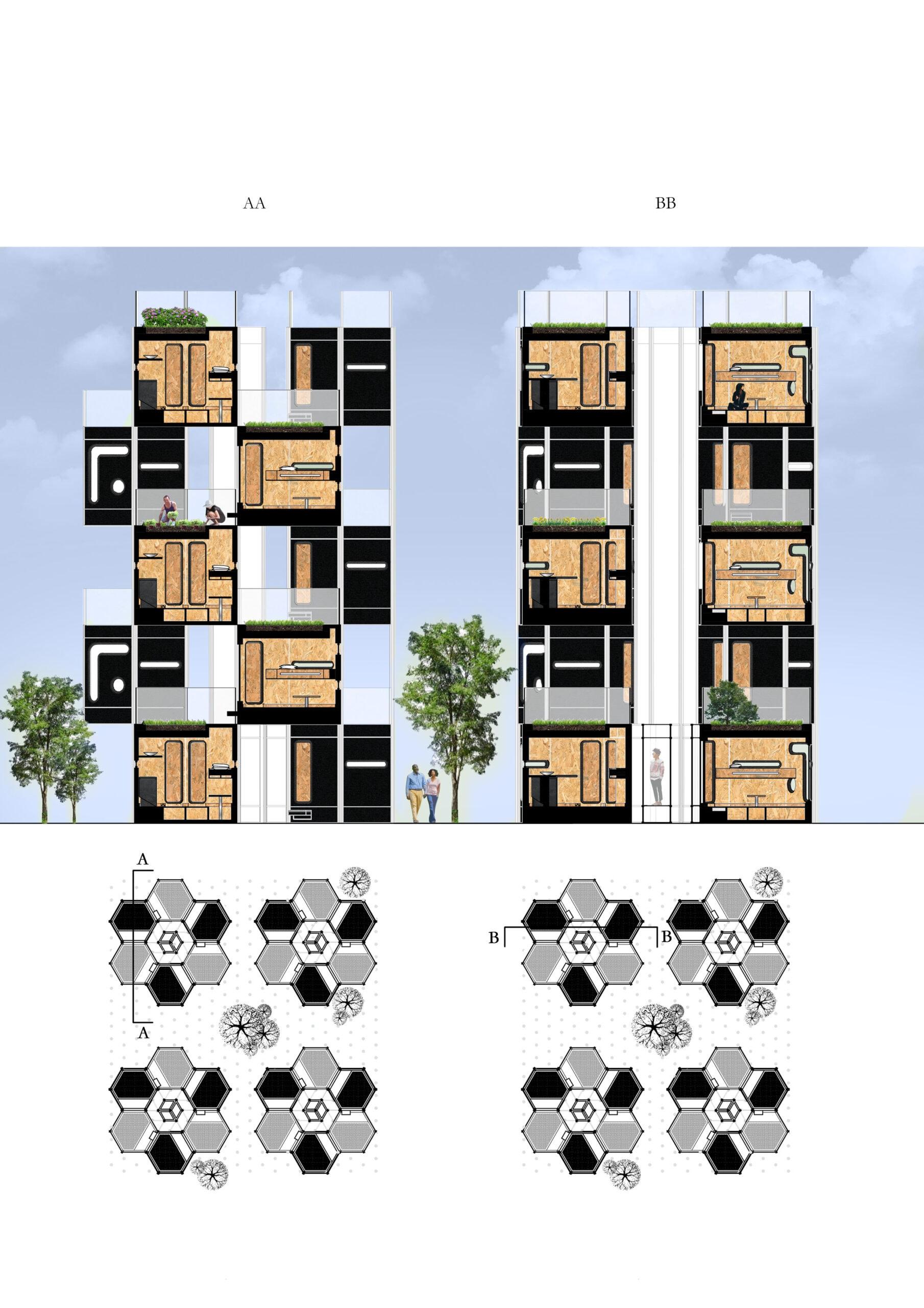 18128_Honeycomb_Block
