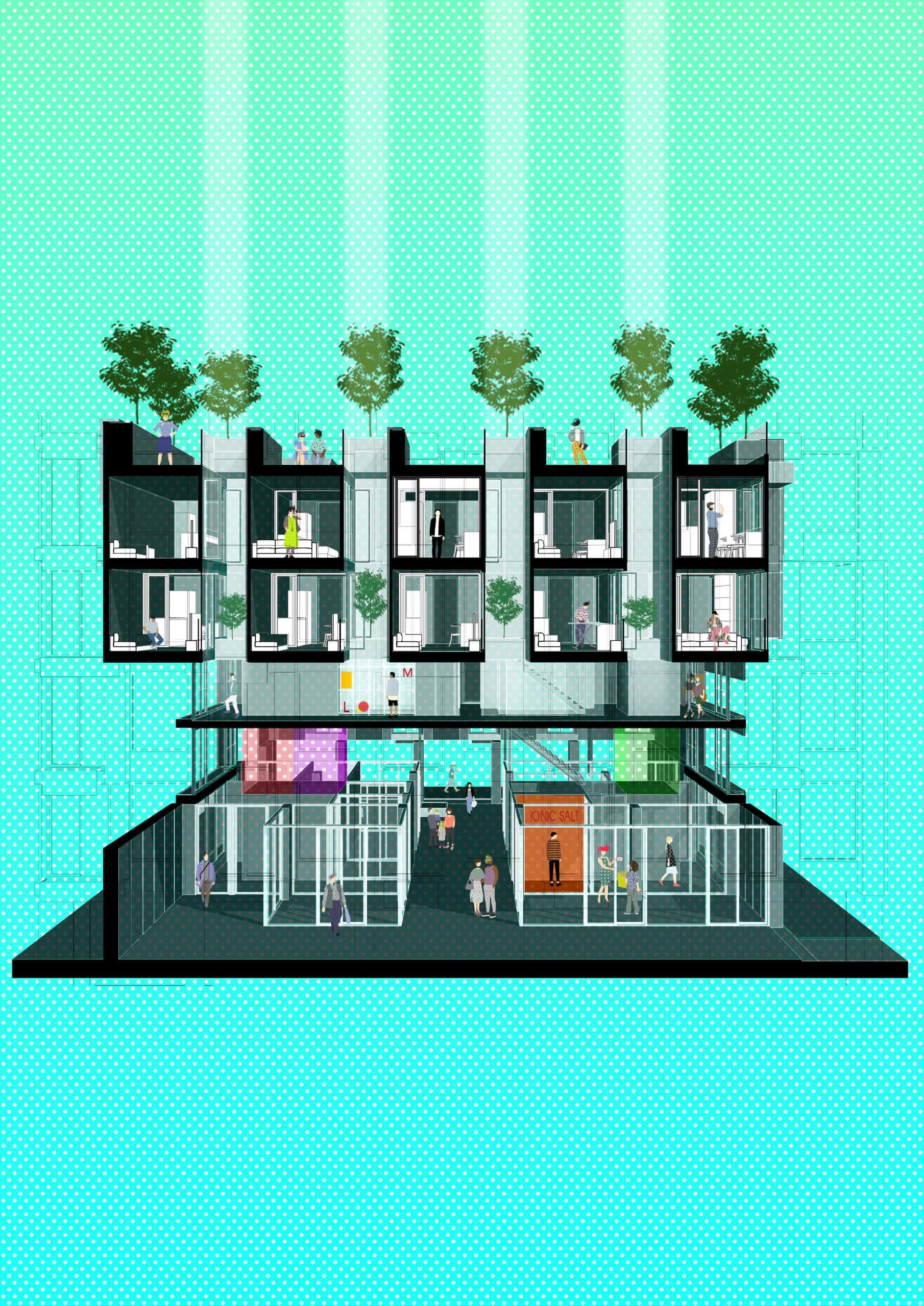 18183_NonA Social Distancing Housing Block_Concept