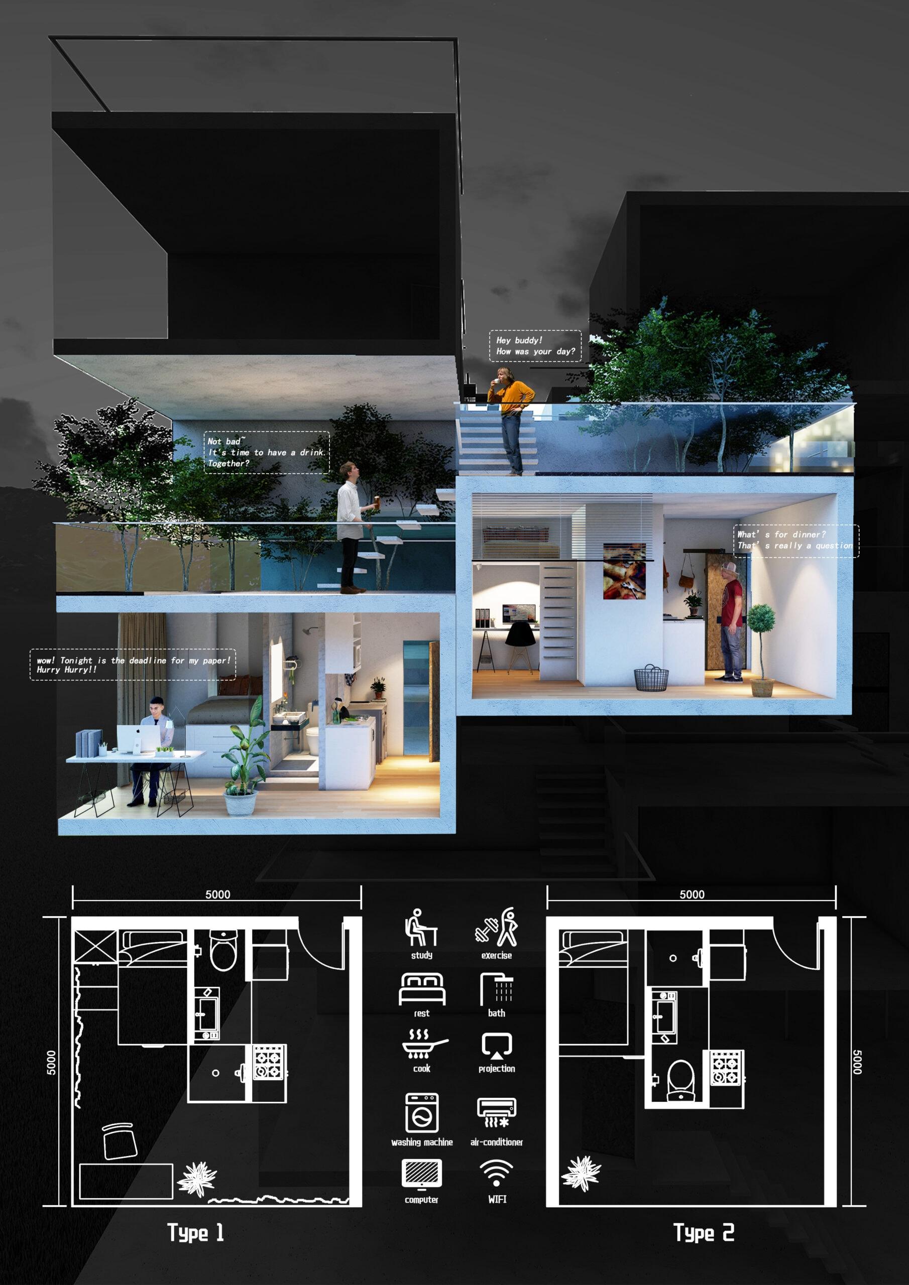18292_Float Dormitory_Unit